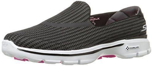 Para Mujer Skechers Rendimiento Van Andando 3 Resbalón En El Zapato Para Caminar nL1Ny79E4K