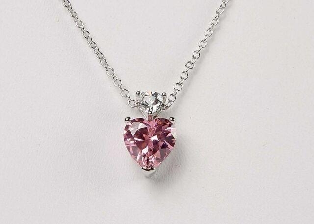 Avon fancy shape cz and trillion pink heart pendant necklace ebay new avon pink heart fancy shape cz and trillion pendant necklace 1718 aloadofball Gallery
