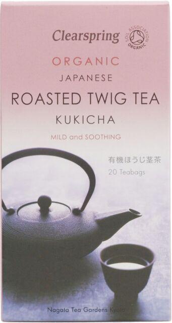 Clearspring Japanese Organic Roasted Twig Tea Kukicha 20 Bags 40g