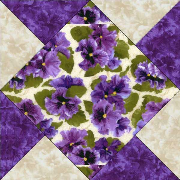 Debbie Beaves Lovely Purple Cream Lavender Floral Pansy Fabric ... : debbie beaves quilt patterns - Adamdwight.com