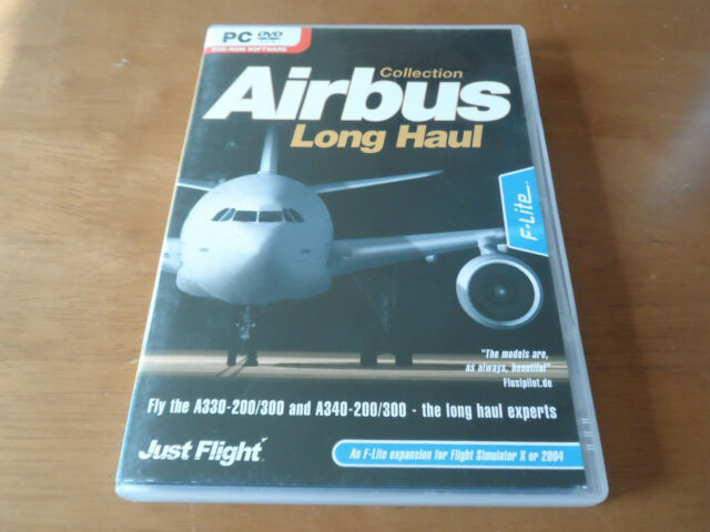 Air Bus Collection Long Haul Expansion for Flight Simulator FS X or 2004 PC DVD