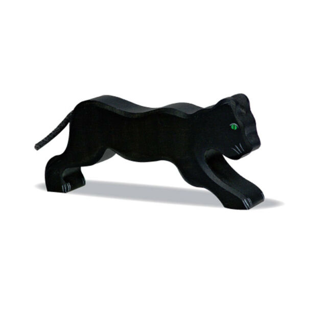 Holztiger 80143 Panther Black (Previously 3070) Wood Figure Wood Animal NEW! #