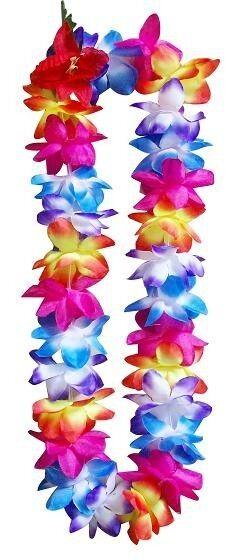 Six hawaii silk flower lei luau party hula wedding graduation six hawaii silk flower lei luau party hula wedding graduation rainbow qty 6 leis mightylinksfo Image collections