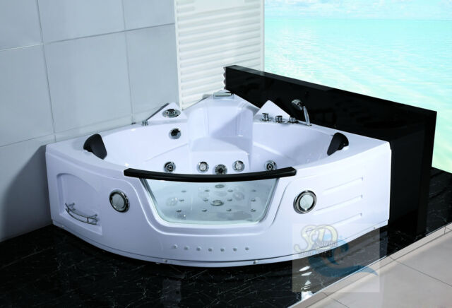 Whirlpool indoor  2 Person Jacuzzi Whirlpool Massage Hydrotherapy Bathtub Tub Indoor ...