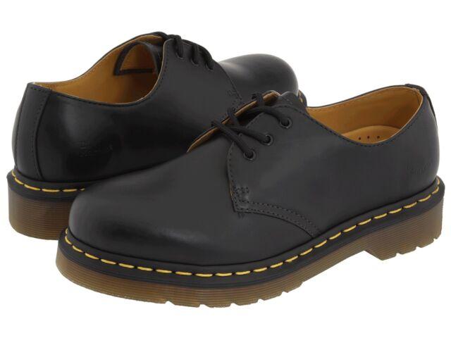 Men's Shoes Dr. Martens 1461 3 Eye Leather Oxfords 11838002 Black Smooth ...