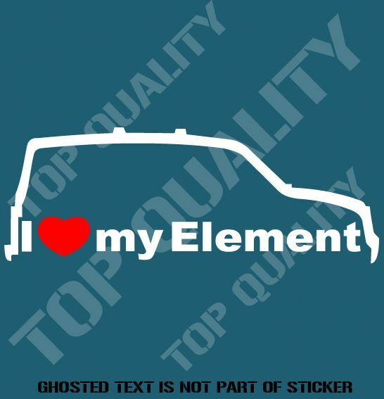 I love my element decal sticker to suit honda jdm rally drift decals stickers