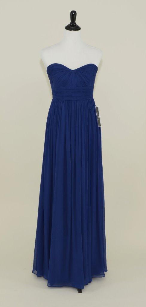 J.CREW Silk Chiffon Marbella Gown 12p Navy Blue Bridesmaid Prom ...