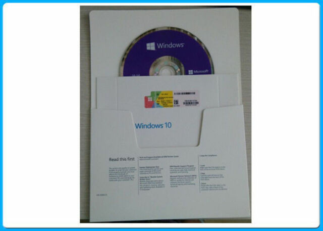 Genuine Microsoft Windows 10 Home 64 Bit DVD With Product ...