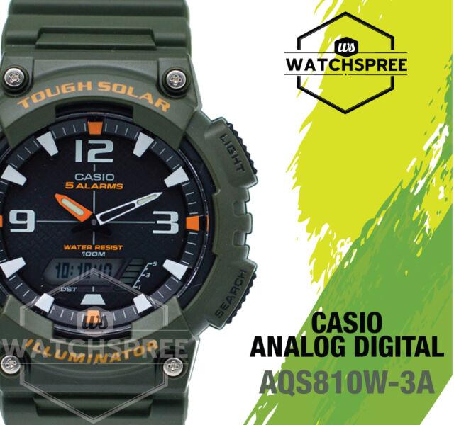 Casio Analog Digital Tough Solar Watch AQS810W-3A AQ-S810W-3A AU FAST & FREE