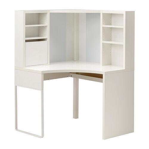 Great IKEA Micke Desk Table Computer Corner Work Station White