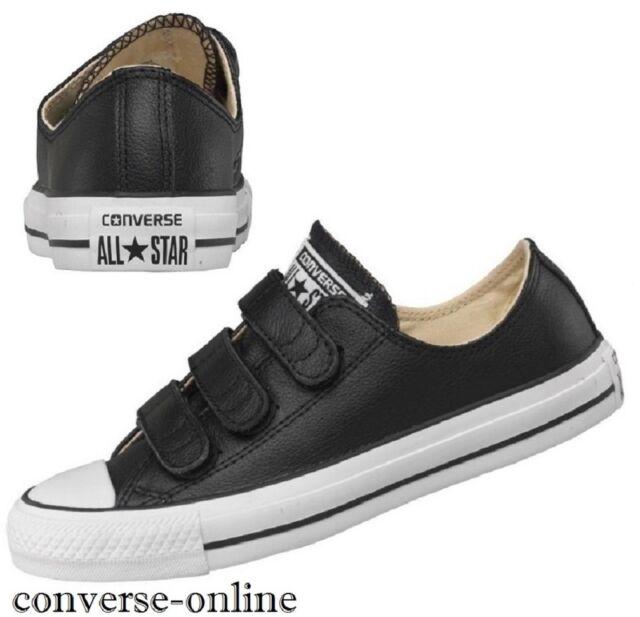 black leather converse boys