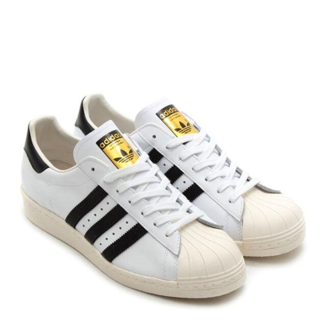 adidas Superstar 80s Scarpe da Ginnastica Uomo Bianco White/Black T6c