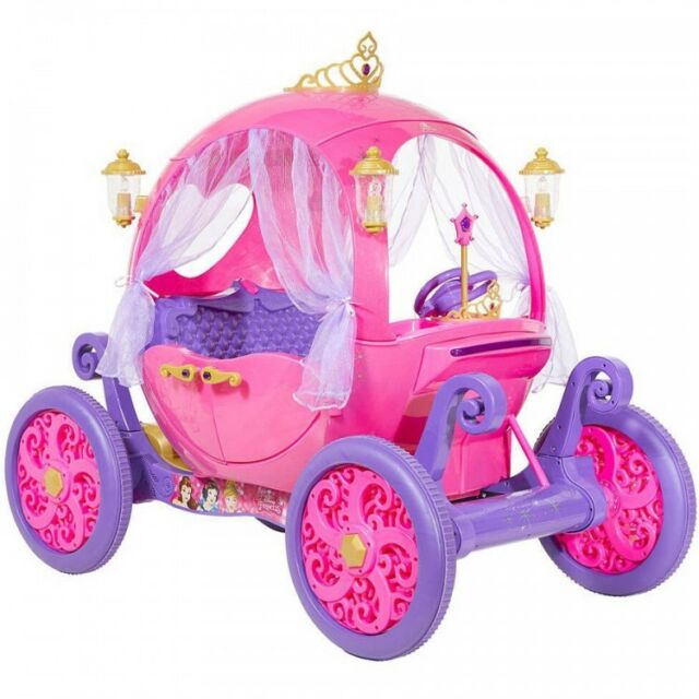 24v disney princess carriage ride on toy girls kids electric car battery powered ebay