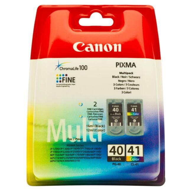 Canon PG 40 Black,  + CL 41 Color,  Rechn.m.Mwst.