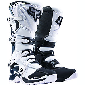 NEW 2018 FOX RACING COMP 5 MX OFFROAD BOOTS WHITE ALL SIZES REED DUNGEY ROCZEN