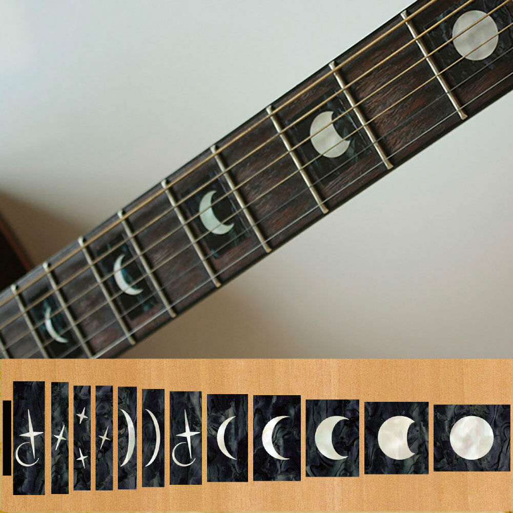 Fretboard markers inlay sticker decals for guitar and bass moon phases