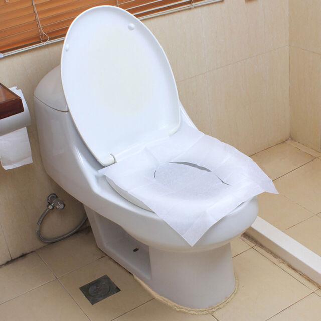 Exceptional HK  100Pcs Disposable Portable Travel Toilet Seat Cover Mat Toilet Paper  Pad Fas