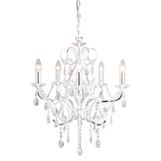 Debenhams home collection avery chandelier ceiling light crystal drops
