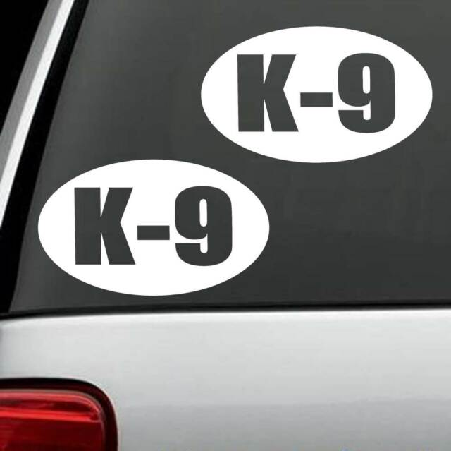 2 count k9 k 9 dog decal sticker m1102 police drug unit laptop mirror