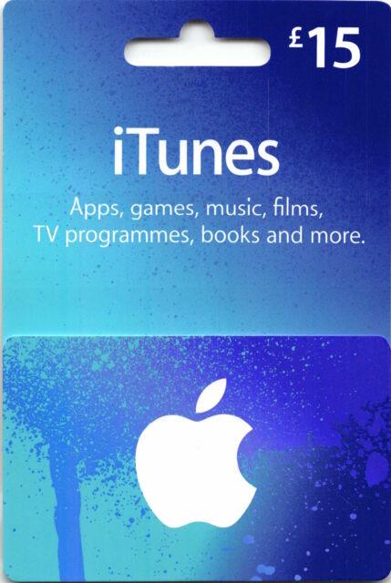 15 GBP Apple iTunes Gift Card Code Certificate Pound UK British | eBay