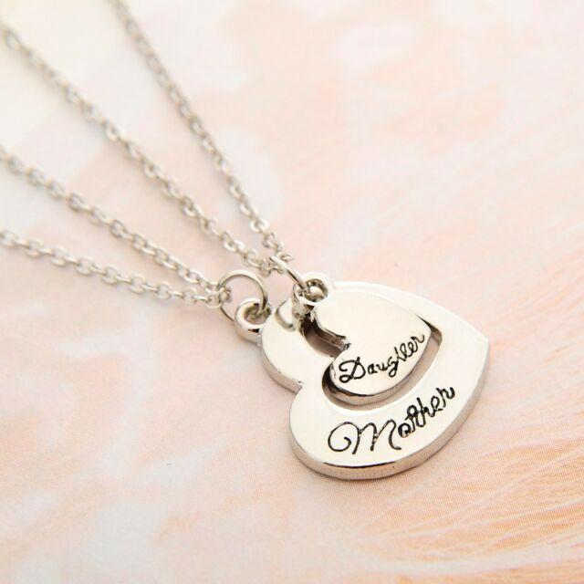 Dual heart shaped mother daughter pendant necklace twinset mothers dual heart shaped mother daughter pendant necklace twinset mothers day gift aloadofball Images