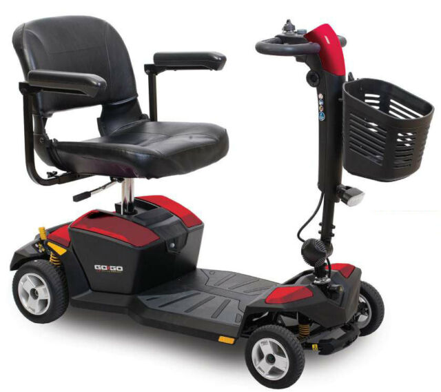 Pride gogo lx portable electric mobility scooter with cts for Mobility scooter motors electric