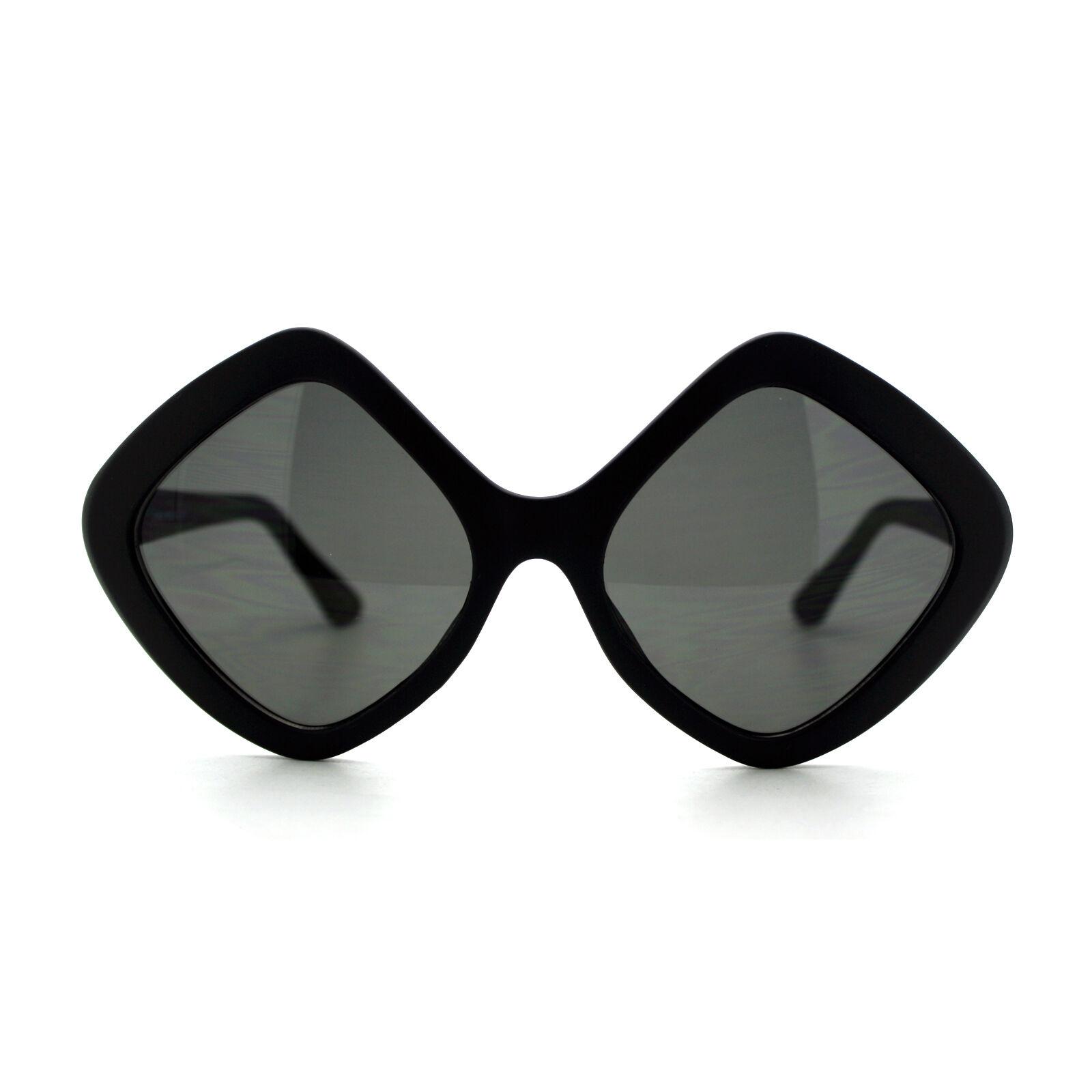 Diamond Shape Sunglasses Womens Oversized Diamond Frame Shades Matte ...
