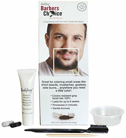 Godefroy 1103 Beard & Mustache Color Dark Brown | eBay