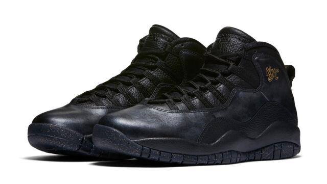 Nike Air Jordan Retro X 10 NYC City Pack Black Metallic Gold 310805-012