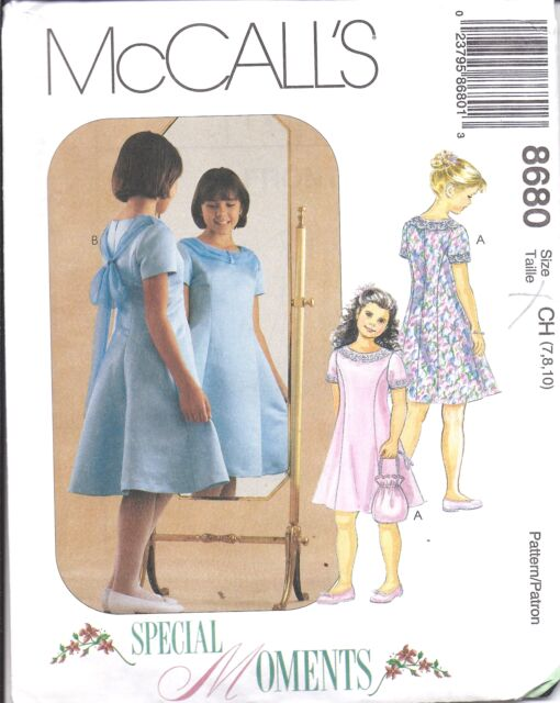 8680 Uncut McCalls Sewing Pattern Girls Dress Easter Party Sew ...