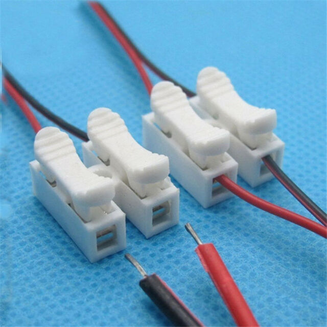 30pcs Electrical Cable Connectors Quick Splice Lock Wire Terminals ...