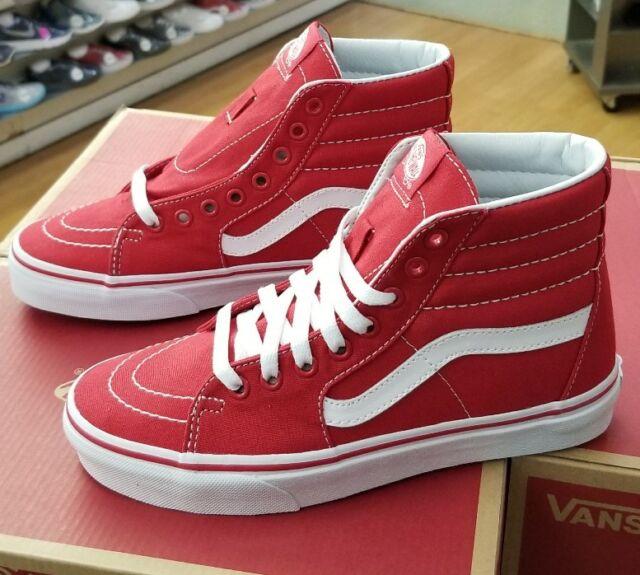 Vans SK8 Hi Canvas rojas