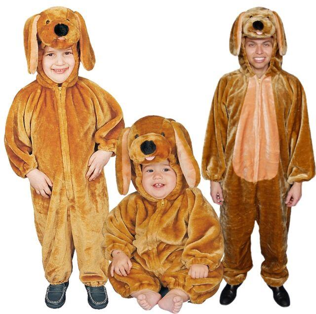 Dress up America Sensational Plush Brown Puppy Costume For Children