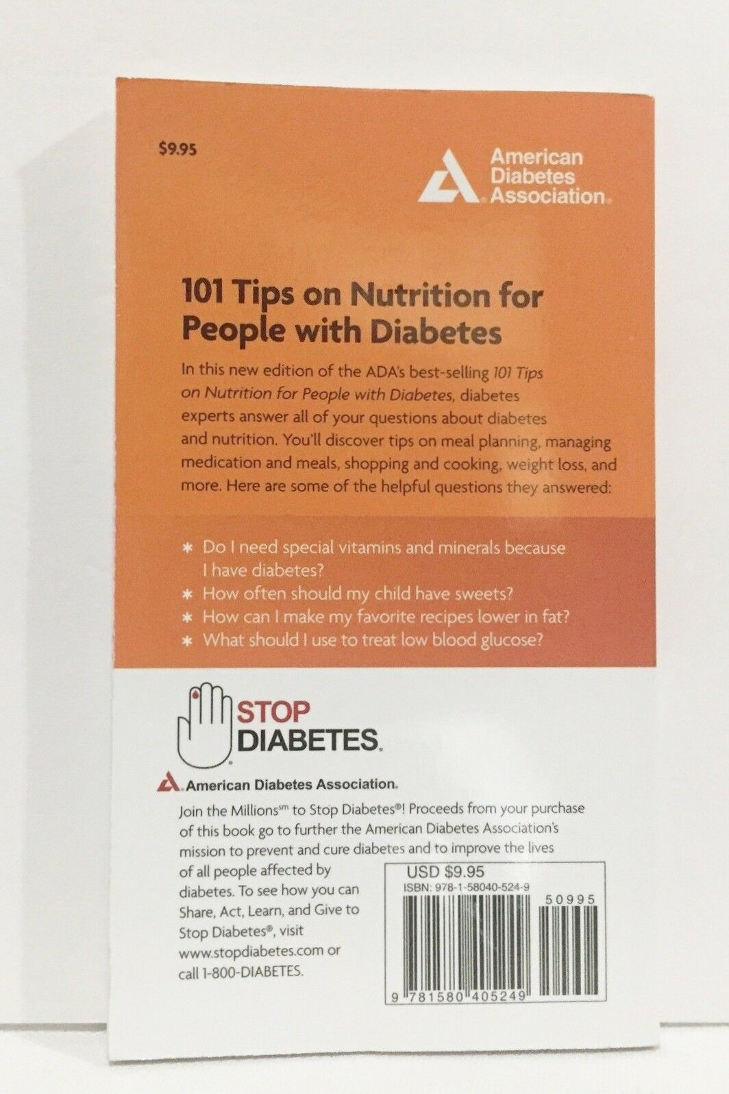 101 Tips on Nutrition for People with Diabetes by American Diabetes  Association Staff (2012, Paperback) | eBay