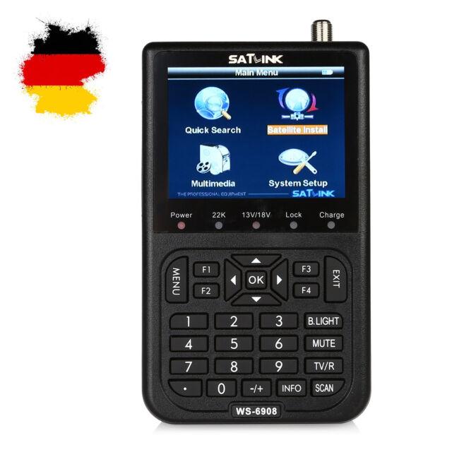 Satlink WS-6908 Digital LCD Satfinder Satelliten DVB-S TFT 8,9cm DiSEqC 1.0/1.2