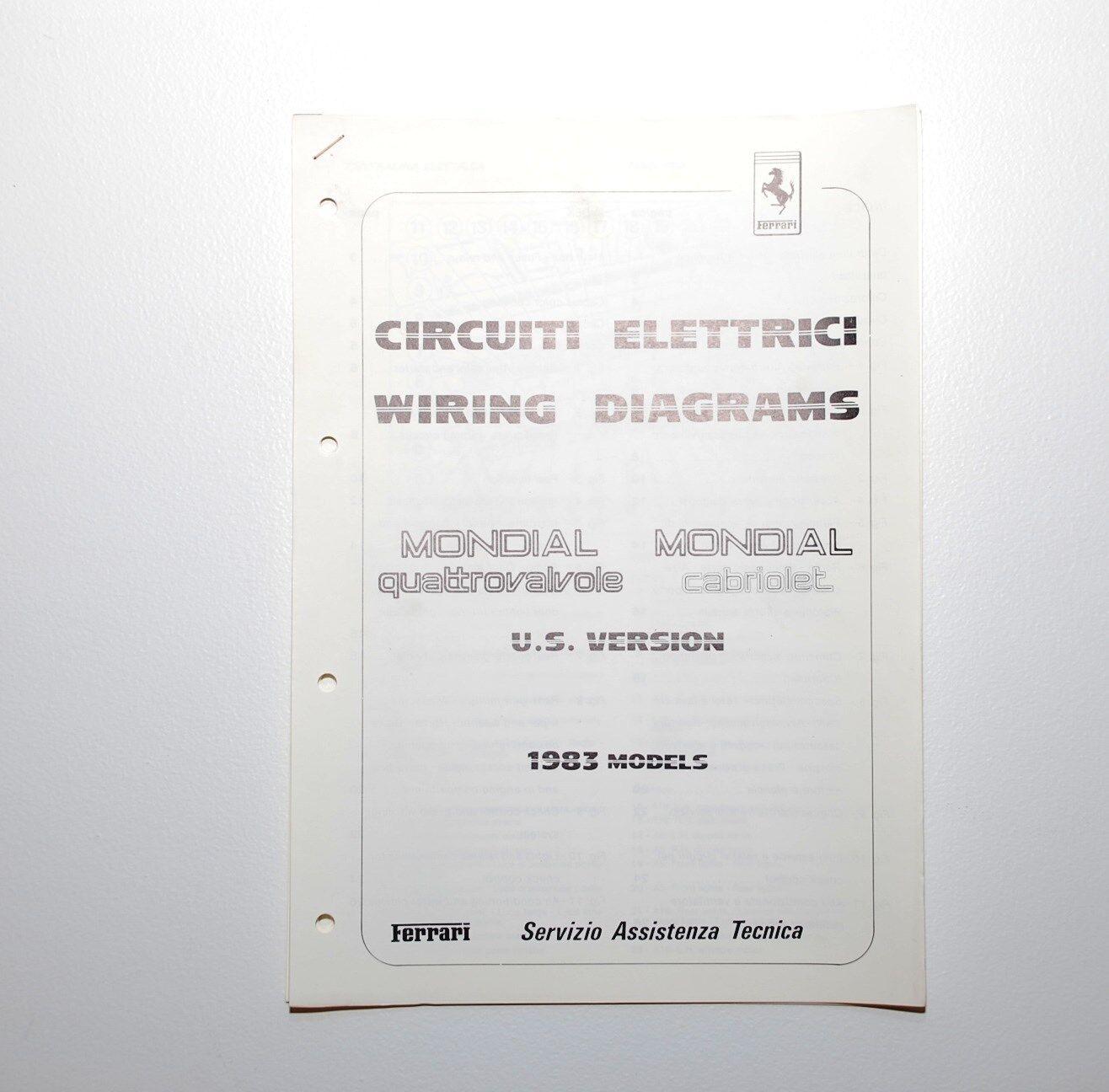 Ferrari 1983 Mondial Wiring Diagrams # 95990823 Algar Ferrari on Now ...
