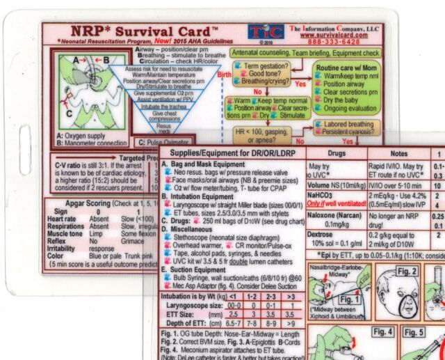 NRP Neonatal Resuscitation Program Certification Quick Reference ...