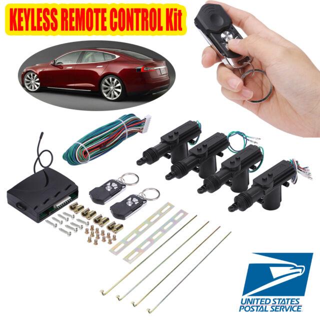 Universal Car Central Power Door Lock Unlock Remote Kit Keyless