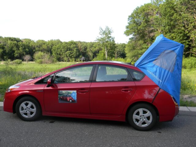 Prius Car C&ing Tent 2003 through 2015 Models Habitents Hatchback (Blue) & Prius Car Camping Tent 2003 Through 2015 Models Habitents ...