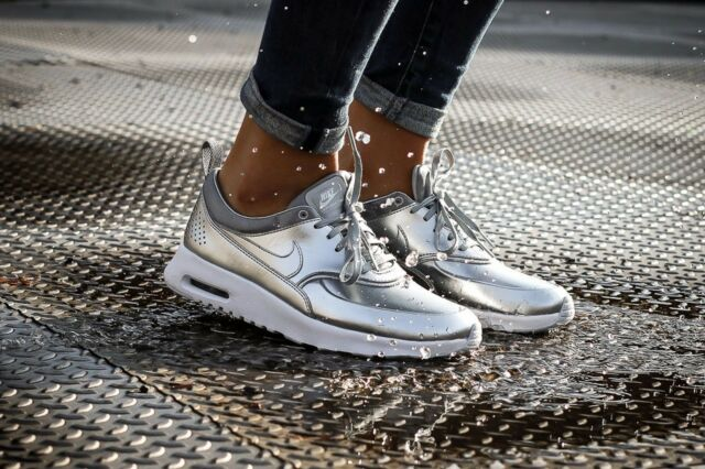 Nike Air Max Thea Metallic Wmn Sz 7 819640-001 Metallic Silver/Metallic  Silver