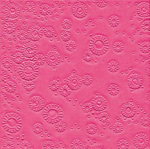 SERVIETTEN 33 x 33 cm. Moments 16 St. Lunch- Serviette geprägt.  PINK -13