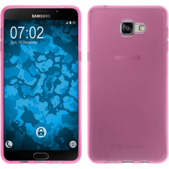 Silicone Case for Samsung Galaxy A9 transparent pink + protective foils