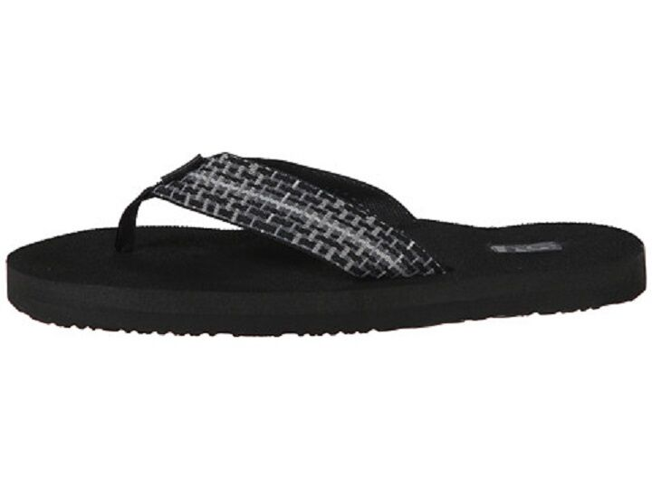 Men's Black Teva Flip Flops Size 9 Sandals Mush