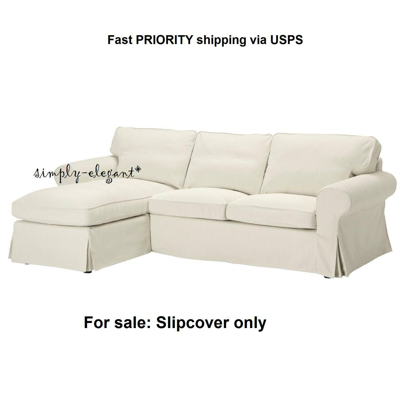 Picture 1 of 3 ...  sc 1 st  eBay : cover for loveseat with chaise - Sectionals, Sofas & Couches