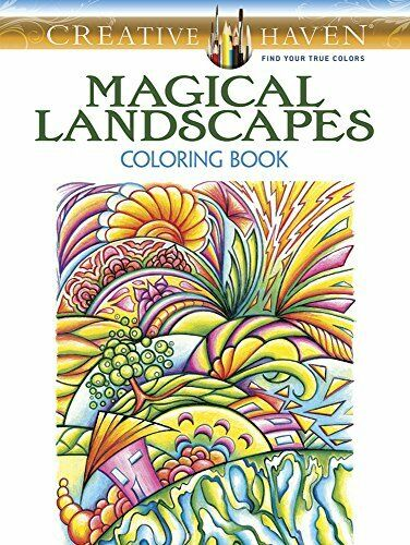 Adult Coloring Creative Haven Magical Landscapes Book By Miryam Adatto 2016 Paperback