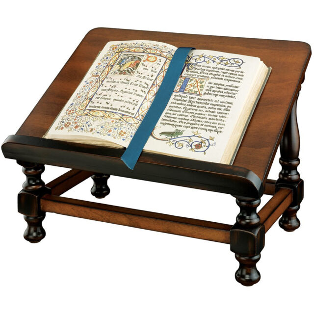 Wooden Bible Stand ~ Wooden book easel stand hard wood antique replica bible