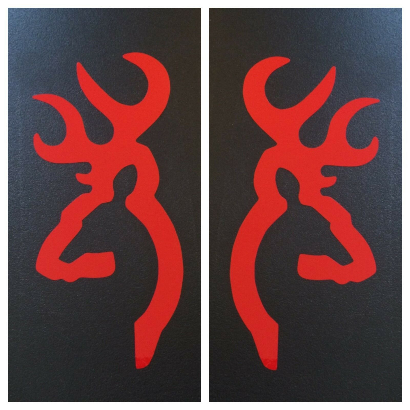 2 red browning deer buck doe decal sticker logo emblem bow rifle picture 1 of 7 biocorpaavc