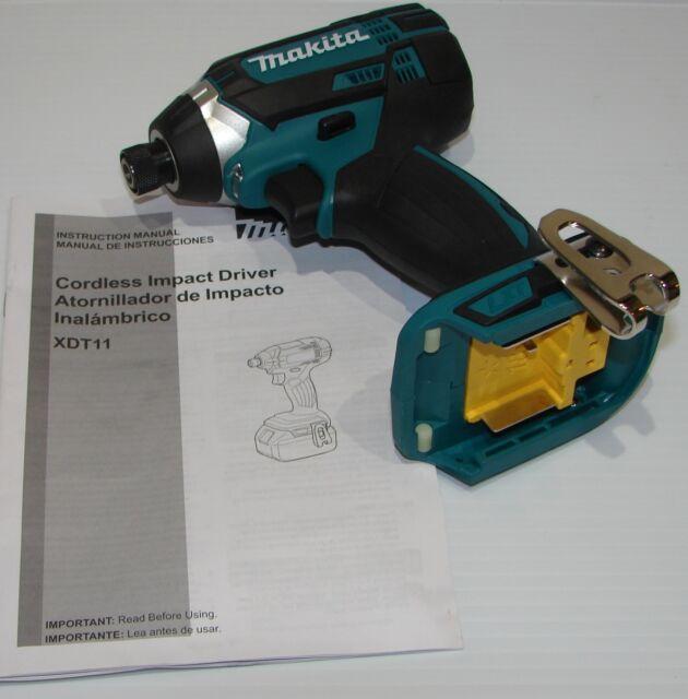makita xdt11z 18v lxt lithium ion cordless impact driver tool only rh ebay com Makita Drill Driver Combo Makita 12 Volt Driver
