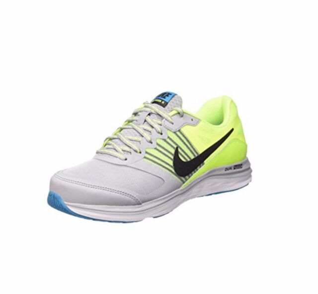 NIKE DUAL FUSION X MENS RUNNING TRAINER SHOE GREY VOLT SIZE 8 9 10 11 RRP