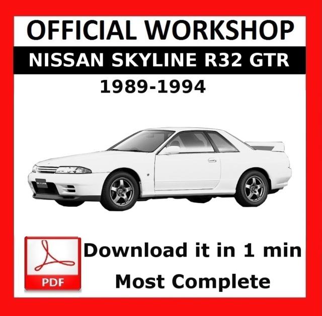 official workshop manual service repair nissan skyline r32 1989 rh ebay com 1960 Nissan Skyline 1990 Skyline
